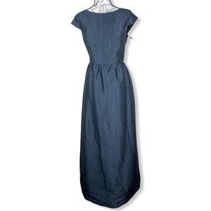 Alfred SunG Cap Sleeve Pleated Cocktail Dress with